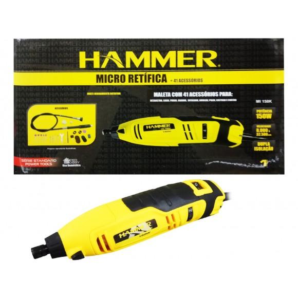 MICRO RETIFICA COM MALETA HAMMER 150W   110V