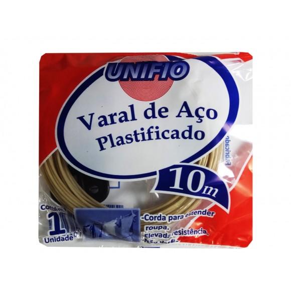 VARAL DE AÇO PLASTIFICADO 10M  UNIFIO