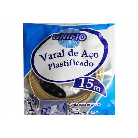 VARAL DE AÇO PLASTIFICADO 15M  UNIFIO