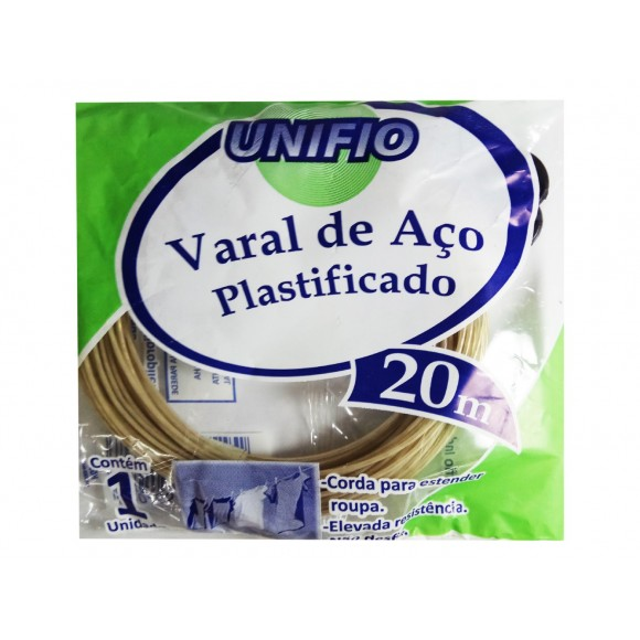 VARAL DE AÇO PLASTIFICADO 20M  UNIFIO