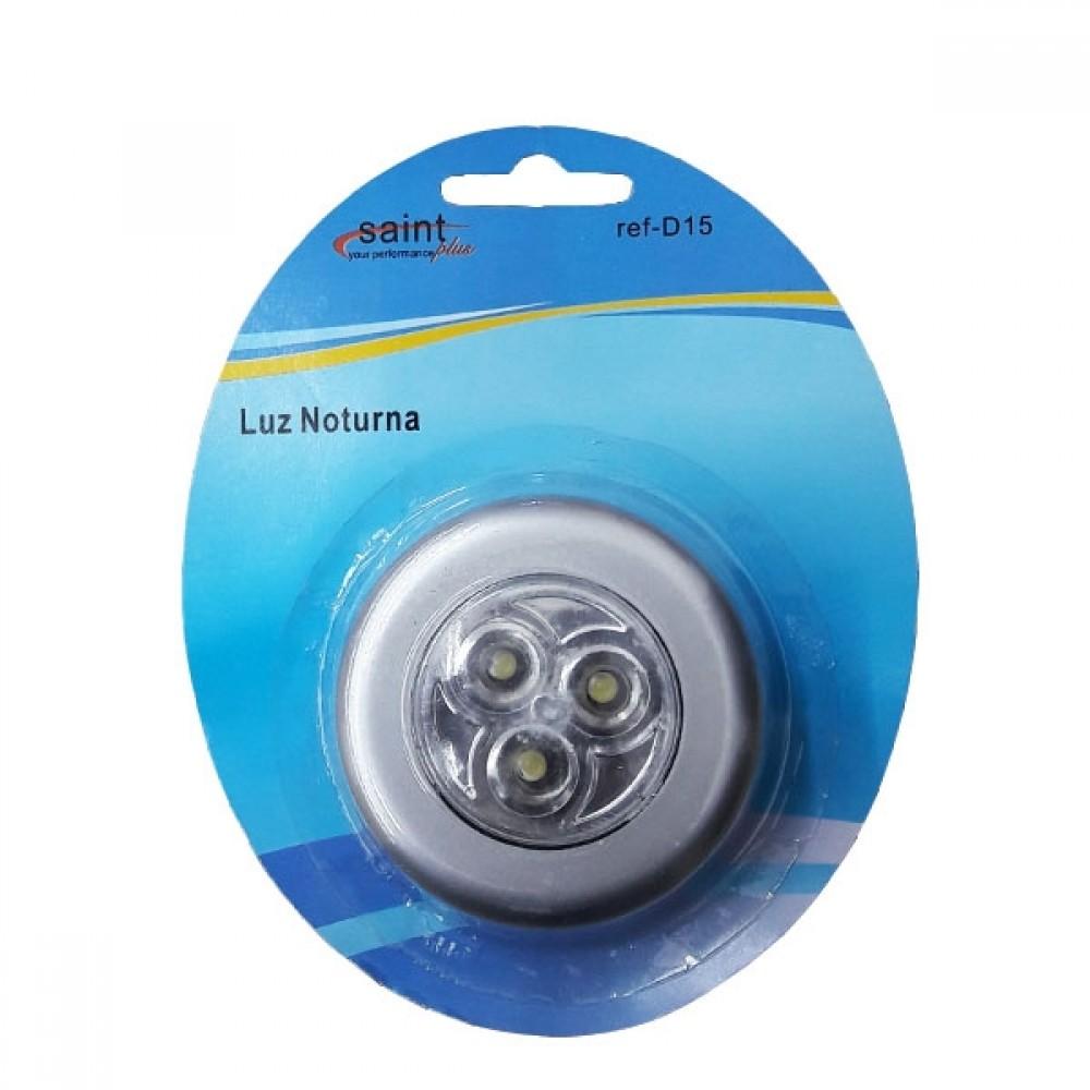 LUMINARIA DE TOQUE 3 LED COM ADESIVO D-15