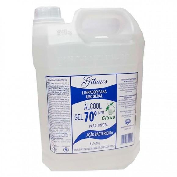 ALCOOL  - GEL  70%  5L  / 4,200KG