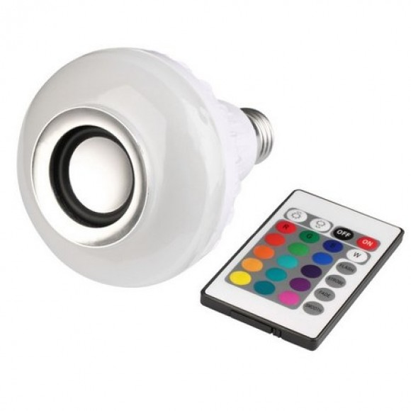 CAIXA -  DE SOM LAMPARA RGB  LY-12W