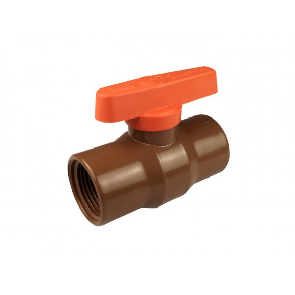 REGISTRO -  DE ESFERA SOLDA PVC MARRON 20MM
