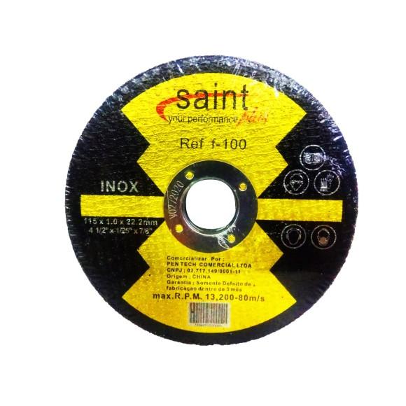 DISCO DE CORTE PARA INOX 115*1,0*22,2MM   F-100