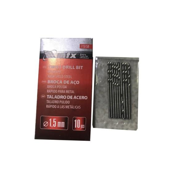 BROCA ACO RAPIDO P/METAL 1,5MM C/10   MTX-715159