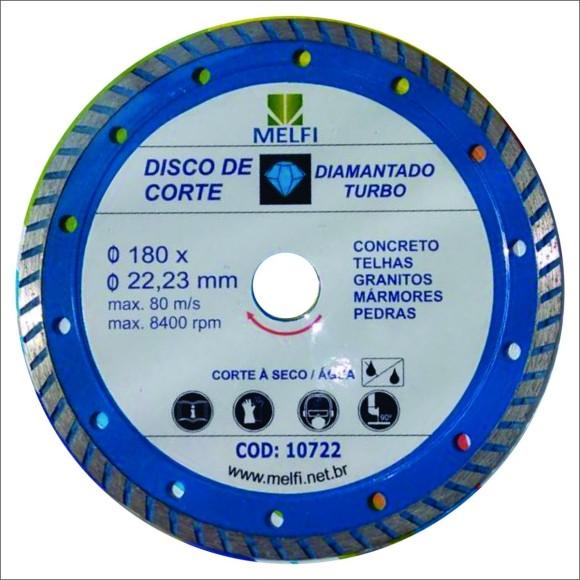 DISCO DIAM. DE CORTE TURBO 180*22,23MM