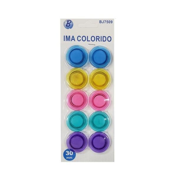 IMA DE GELADEIRA COLORIDA P  COM 10UNID.  MG-0069